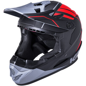 Kali Zoka Casco Uomo, black/red/grey
